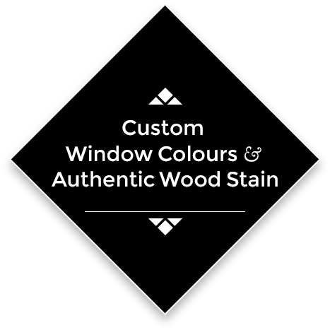 Custom Window Colours & Authentic Wood Stains