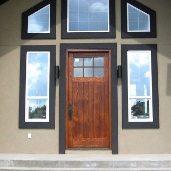 Solid wood entrance door
