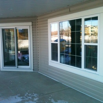 Vinyl patio door and vinyl windows