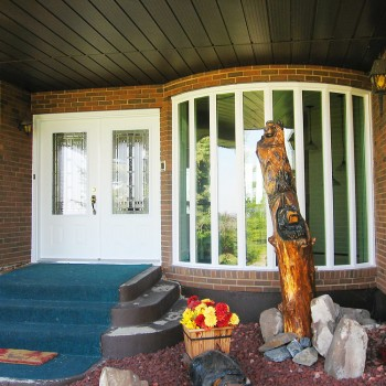 Bow Window and Entrance Door