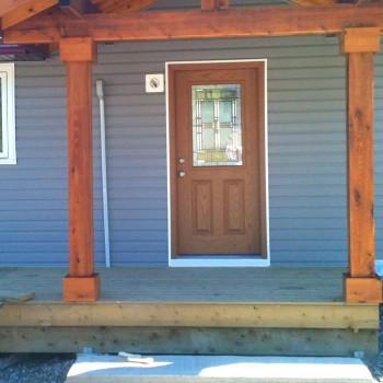 Rustic entrance door