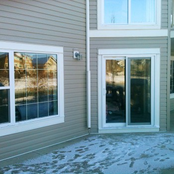 Vinyl patio door